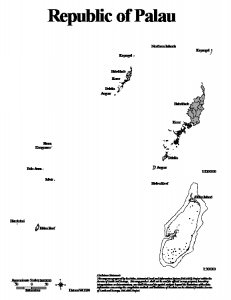 Map Palau : Helen Reef